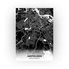 Amstelveen print - Zwart stijl