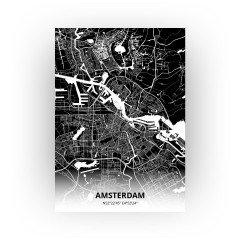 Amsterdam print - Zwart stijl