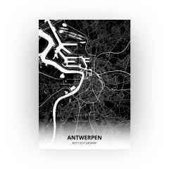 Antwerpen print - Zwart stijl