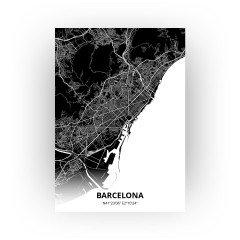 Barcelona print - Zwart stijl