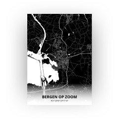 Bergen op Zoom print - Zwart stijl