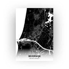 Beverwijk print - Zwart stijl