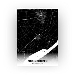 Biddinghuizen print - Zwart stijl