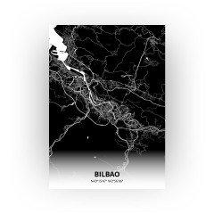 Bilbao print - Zwart stijl