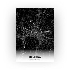 Bologna print - Zwart stijl