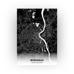 Bordeaux print - Zwart stijl