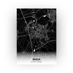 Breda print - Zwart stijl