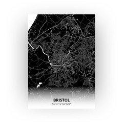 Bristol print - Zwart stijl
