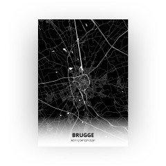 Brugge print - Zwart stijl