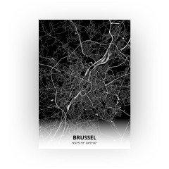 Brussel print - Zwart stijl