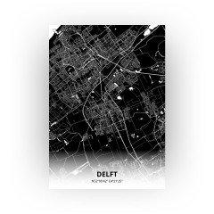 Delft print - Zwart stijl