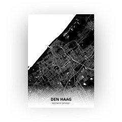 Den Haag print - Zwart stijl