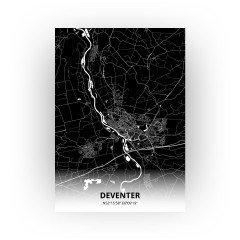 Deventer print - Zwart stijl