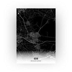 Ede print - Zwart stijl