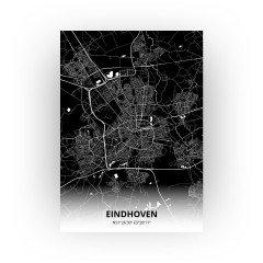 Eindhoven print - Zwart stijl