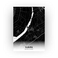 Elburg print - Zwart stijl
