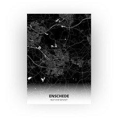 Enschede print - Zwart stijl