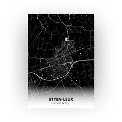 Etten-Leur print - Zwart stijl
