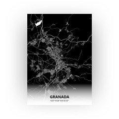 Granada print - Zwart stijl