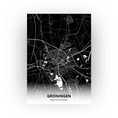 Groningen print - Zwart stijl