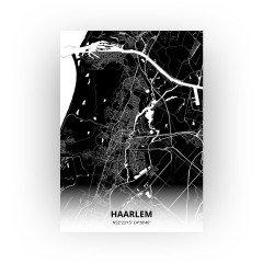 Haarlem print - Zwart stijl
