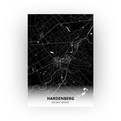 Hardenberg print - Zwart stijl