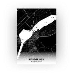 Harderwijk print - Zwart stijl