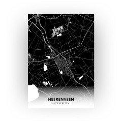 Heerenveen print - Zwart stijl