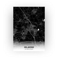 Helmond print - Zwart stijl