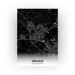 Hengelo print - Zwart stijl