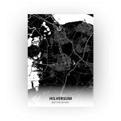 Hilversum print - Zwart stijl