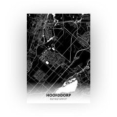 Hoofddorp print - Zwart stijl