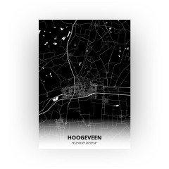 Hoogeveen print - Zwart stijl