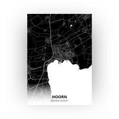 Hoorn print - Zwart stijl