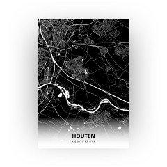 Houten print - Zwart stijl