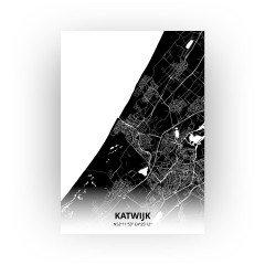 Katwijk print - Zwart stijl
