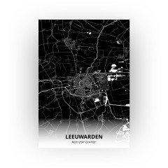 Leeuwarden print - Zwart stijl