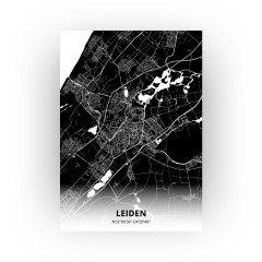 Leiden print - Zwart stijl