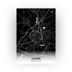 Leuven print - Zwart stijl
