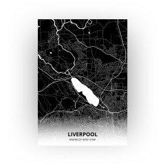 Liverpool print - Zwart stijl