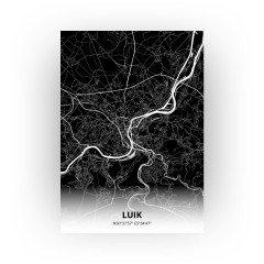 Luik print - Zwart stijl