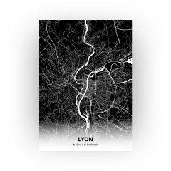 Lyon print - Zwart stijl