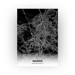Madrid print - Zwart stijl