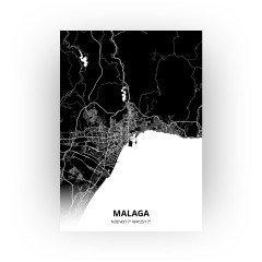 Malaga print - Zwart stijl