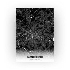 Manchester print - Zwart stijl