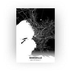 Marseille print - Zwart stijl