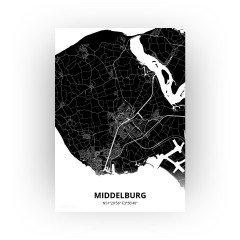 Middelburg print - Zwart stijl