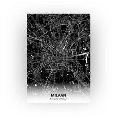 Milaan print - Zwart stijl