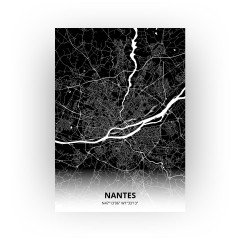Nantes print - Zwart stijl