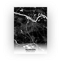 Nijmegen print - Zwart stijl